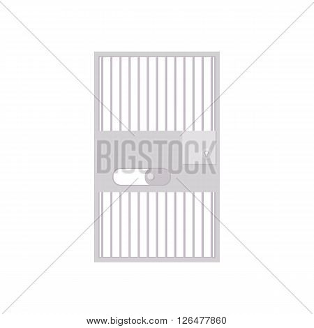 Prison bar icon in cartoon style on a white background