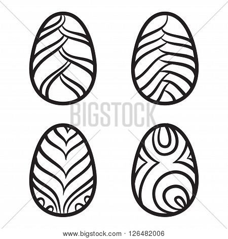 Happy Easter Eggs Vector Card Illustration Hand Drawn With Easter Eggs.