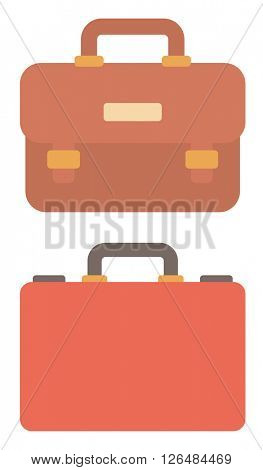 Suitcase and leather briefcase.