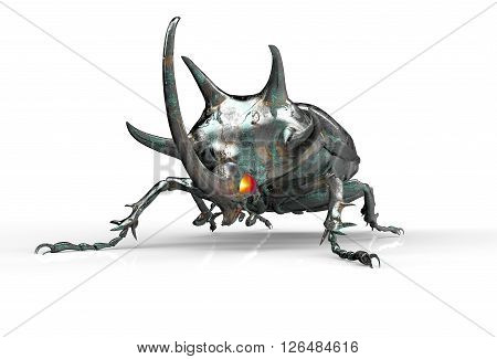 Digital Safety Concept Electronic Computer Bug Isolated