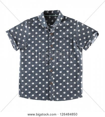 Dotted shirt, isolated on white