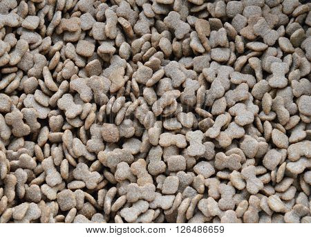 dog food grain and texture in sack bag