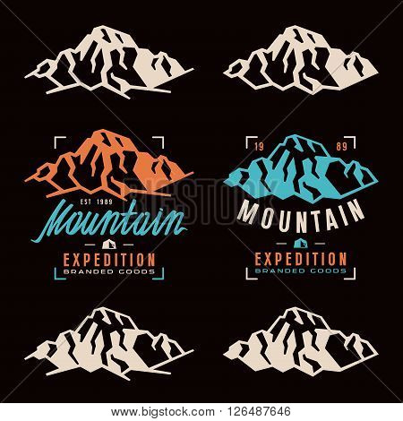 Mountain Expedition Labels, Badges And Design Elements