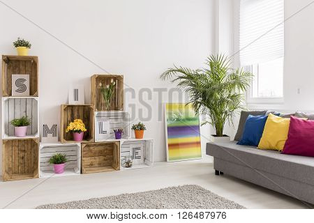 Shot of a cosy modern living room full of light