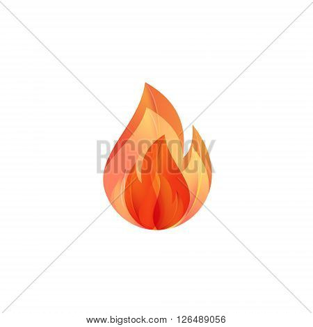 Flames of Fire illustration of modern logo design in gradients with quality volume art
