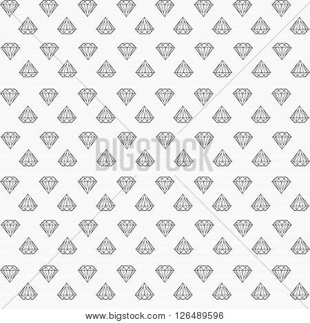 vector seamless pattern with little diamonds arranged in rows