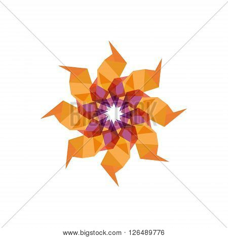 Twisted emblem patterns vector abstract modern illustration design colorful sign similar to a flower art