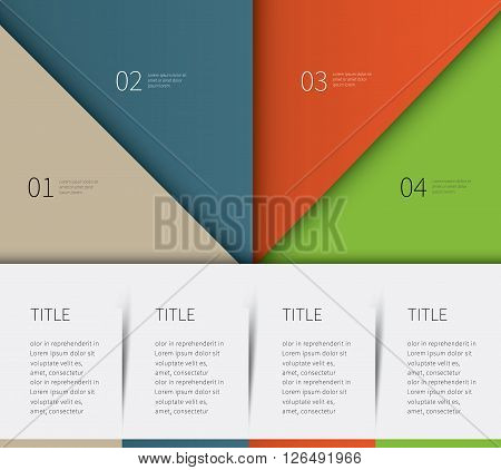 big colored template for report products description