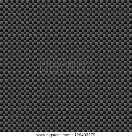 Carbon Fiber Weave Sheet Seamless Pattern vector illustration