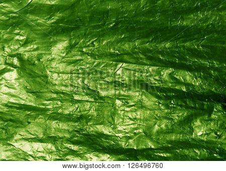 Light Green Plastic Bag Texture