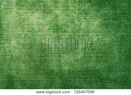 Worn Green Denim Texture.