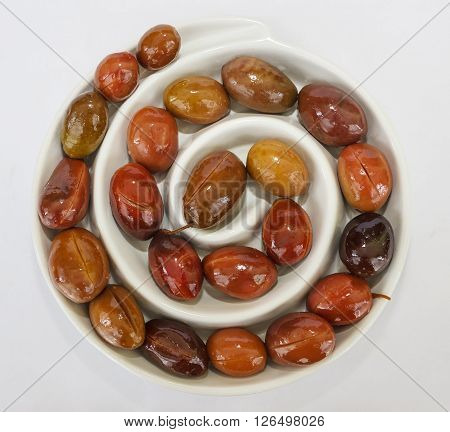 Red Green Olives