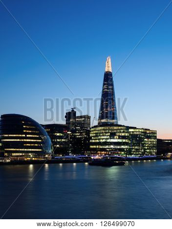 London evening sky