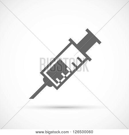 Medical syringe icon. Medical tool vector illustration