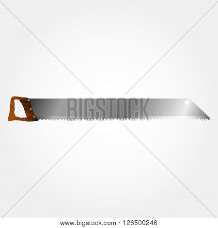 Vector Illustration of wood saws. Realistic instrument