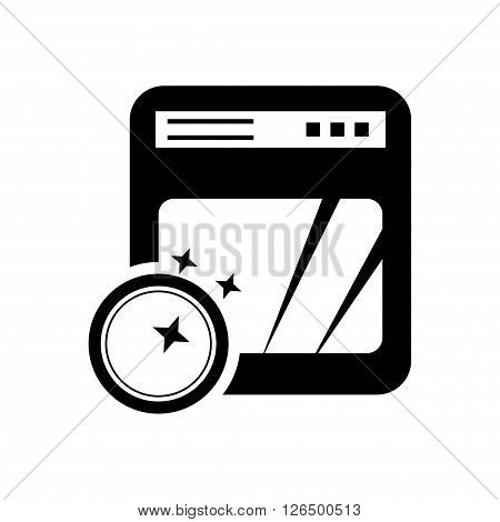 Dishwasher icon in flat style. Vector illustration. Vector symbols.