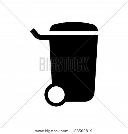 Garbage can icon in flat style. Vector illustration. Vector symbols.