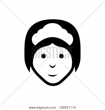 Maid icon on white background. Vector illustration. Vector symbols.
