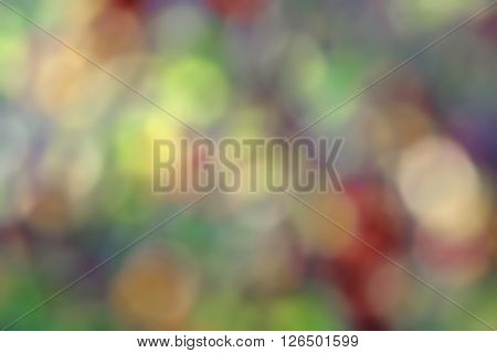 Background Of Colored Round Spots. Bokeh Effect In The Background Illustration To Create A Backgroun