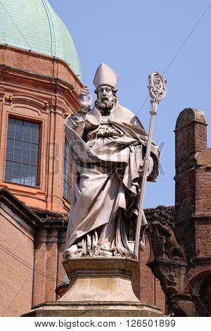 BOLOGNA, ITALY - JUNE 04: Saint Petronius, Saint Bartholomew church in Bologna, Italy, on June 04, 2015.