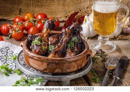 Grilled Chicken Drumsticks With Honey