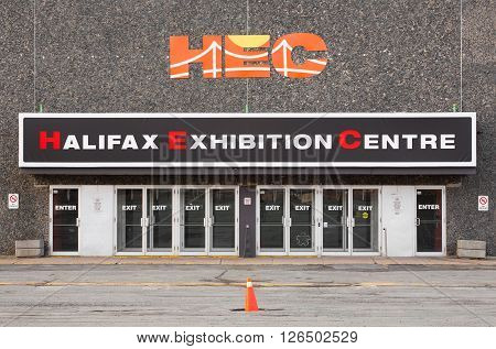 GOODWOOD CANADA - APRIL 20 2016: The Halifax Exhibition Centre is a four building complex designed to host many types of events including public and trade shows weddings and exhibitions.