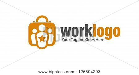 work leadership and Recruitment agency logo concept