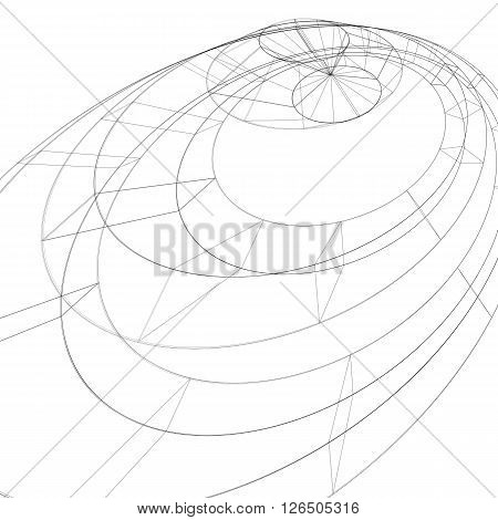 3D Mesh Modern Stylized Abstract Background, Monochrome Geometric Futuristic Symbol With Lines Mesh.