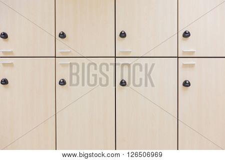 the Modern wood Interior of a locker