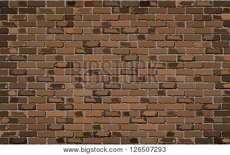 Brown brick wall - Illustration, 