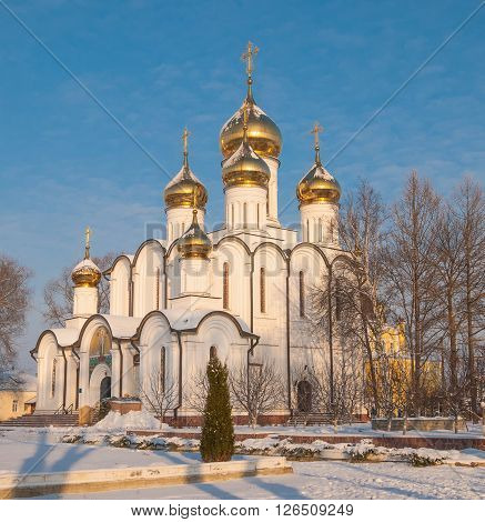 Cathedral of St. Nicholas Monastery in the ancient Russian town of Pereslavl Zaleski