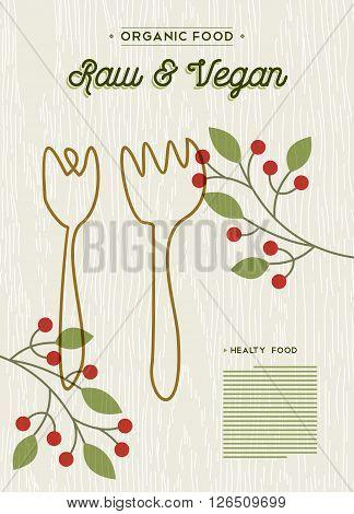 Raw And Vegan Organic Food Restaurant Menu Design