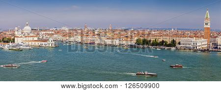 Architecture of Venice - city panorama. Venice Veneto Italy