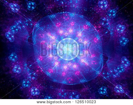 Higgs boson fractal artwork computer generated abstract background