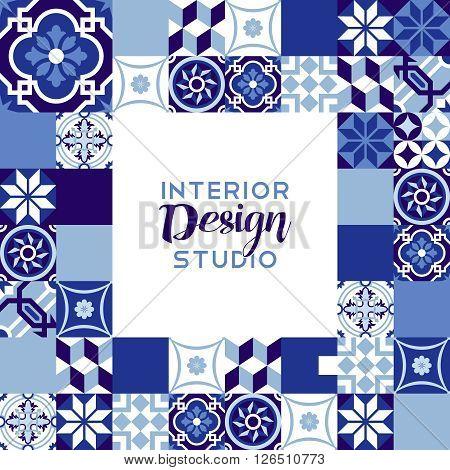 Interior Design Studio Text With Mosaic Decoration