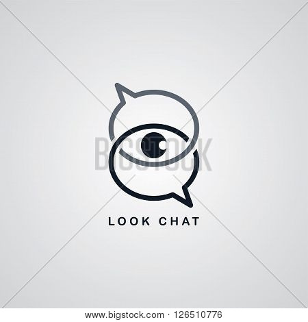 look chat logotype theme vector art illustration