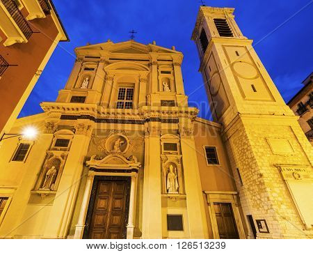 Sainte-Reparate Cathedral in Nice Nice French Riviera France.