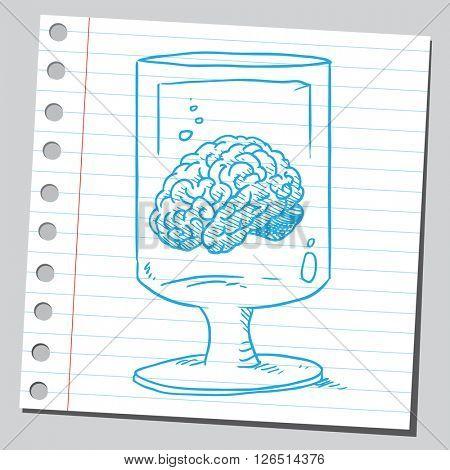 Brain in glass