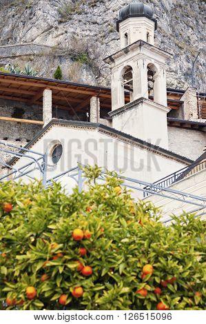 Church in Limone sul Garda. Limone sul Garda Lombardy Italy.