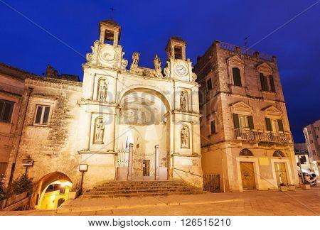 Piazza del Sedile in Matera. Matera Basilicata Italy