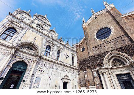 Campo Santi Giovanni e Paolo in Venice. Venice Veneto Italy