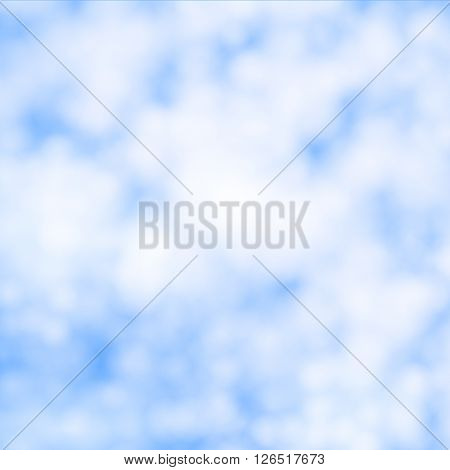Vector illustration of cirrus clouds. Background of white clouds.