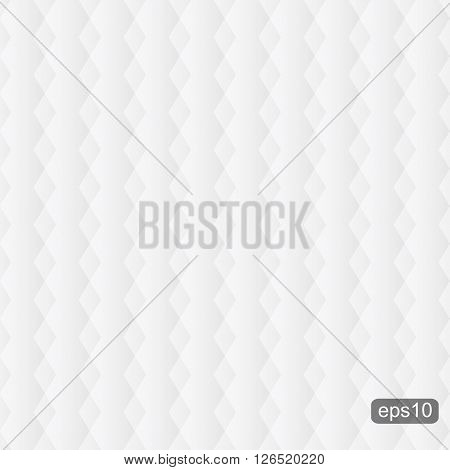 White upholstery soft texture - seamless vector background.