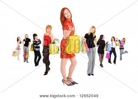 "shopping girls - See similar images of this ""Groups of people"" series in my portfolio"