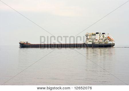 freight ship at sea