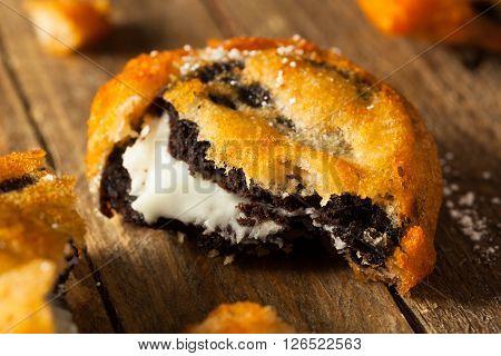 Deep Fried Chocolate Cream Cookies
