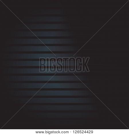 Dark striped background for your design. Metallic vector texture.