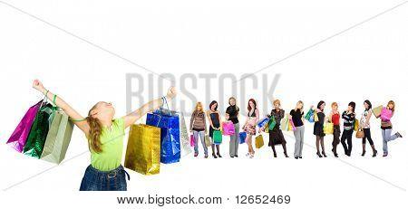 "kid shopping joy - See similar images of this ""Gorgeous shopping women"" series in my portfolio"