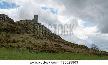 A view of Brentor Church, Devon, England
