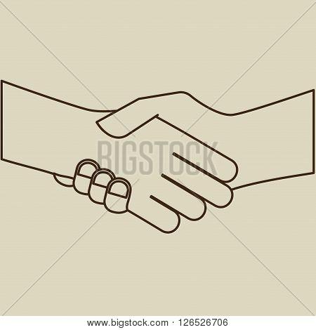 hand shake design, vector illustration eps10 graphic